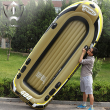 Wnnideo Inflatable PVC Rubber Boat Fishing Thickened Double Kayak Fishing Vessel Hovercraft with Paddles 305cm ZF6-2901(China)