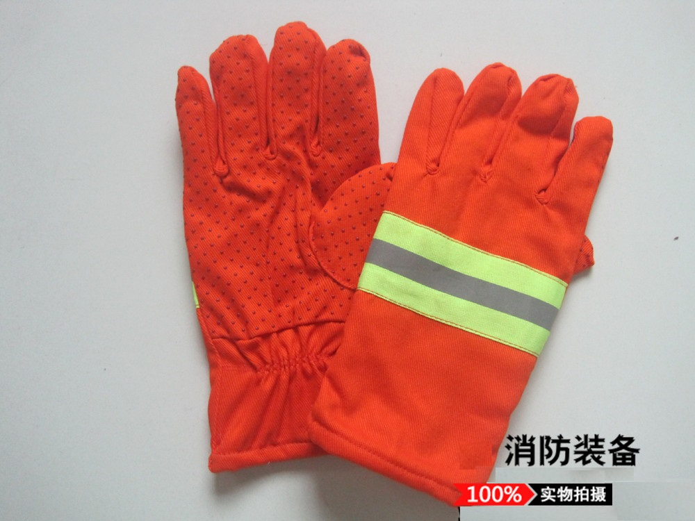 Rescue fire gloves gloves orange orange personal protective equipment and rescue equipment tools<br>
