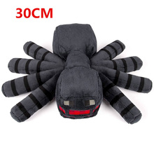 Large Size 30cm Minecraft Toys Gray Minecraft Spider Stuffed Plush Toys Cartoon Game Soft Animals Plush Toys for Kids Gifts 1pcs