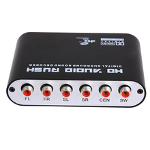 UK Plug 5.1 CH Digital Audio Decoder SPDIF Coaxial to RCA DTS AC3 Digital to 5.1 Amplifier Analog Converte with power adapter