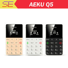 AIEK QMART Q5 M5 Card Mobile Phone 5.5mm Ultra Thin Pocket Mini Phone Quad Band Low Radiation AEKU Q5 Card Cell phone