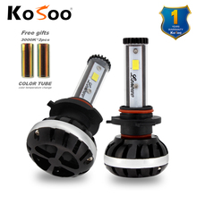 KOSOO Car LED Headlight lonowo lamp 72W 6500K 8000LM 9006 HB4 Automobile Headlamp auto LED light diy color temperature styling