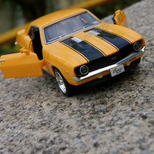 1pc 13cm Chevrolet SS division 1969 camaro alloy car ran from the classical muscle car sports car model gifts