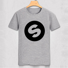 DJ Arno Cost Spinnin Records Music Festival Band World High Quality Casual Pure Color T-shirt Men Slim T Shirt Party Top Tee(China)