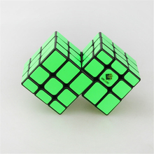 TiSe Cubetwist Conjoint Cube Magic Speed Bandaged Cube Mirror Of Third Order Cast Coated Kids Educational Toys Fluorescent Green