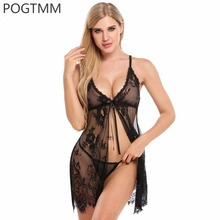 Buy Sexy Open Babydoll Lingerie Erotic Hot Sex Costume Transparent Floral Lace Short Mini Sleepwear Nightwear Exotic Apparel Red XXL