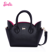 Barbie lovely Women's leather top-handle shoulder bags Female cute cat famous design messenger handBags ladies small totes gift(China)