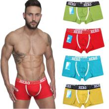 PINK HEROES Men Underwear High Quality Cotton Boxers Comfortable Men Fit Male Shorts Wolf Underwear Men Cotton Funny Men's Boxer(China)