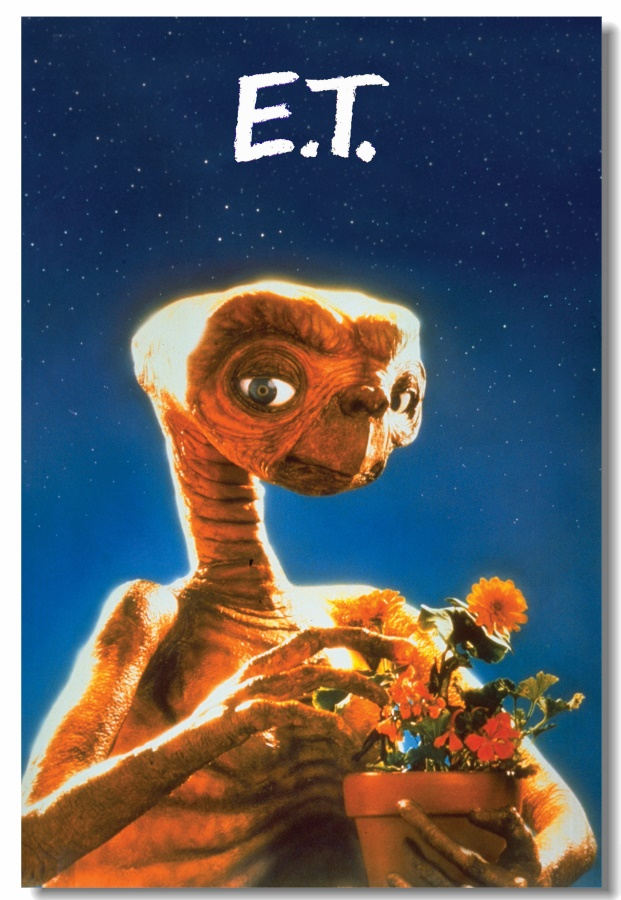 Old Film E.T. Extra Terrestrial Poster Retro Kraft Decorative DIY Wall Sticker Home Bar Cafe Wallpaper Decoration Gift #0229#