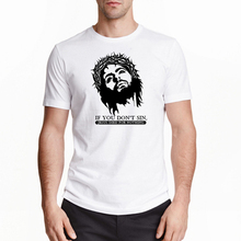Tee Shirt Homme Jesus T Shirts God Christian T-Shirt Cotton Tshirt Homme O Neck Famous Mens T Shirt Mens Top Tees