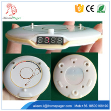Dining Hall service call equipment pagers waiter calling system vibration alert round table buzzer(China)