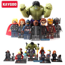 KAYGOO SuperHeros Marvel Avengers military figures Building Blocks Sets Kids toy Bricks deadpool friends Hulk Batman spiderman