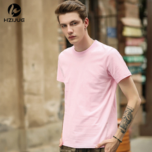 HZIJUE 2017 new fashion brand new clothes mens hip hop Original design loose pure cotton male solid o-neck high street t-shirt(China)