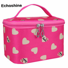 Pure Color Cosmetic Bag Multi Functional makeup bag Big Travel Lingerie Bra Underwear Dot Bags Toiletry Storage Organizer Case