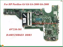 High Quality 697230-501 For HP Pavilion G4 G6 G4-2000 G6-2000 Laptop Motherboard DA0R52MB6E0 DDR3 100% Tested(China)