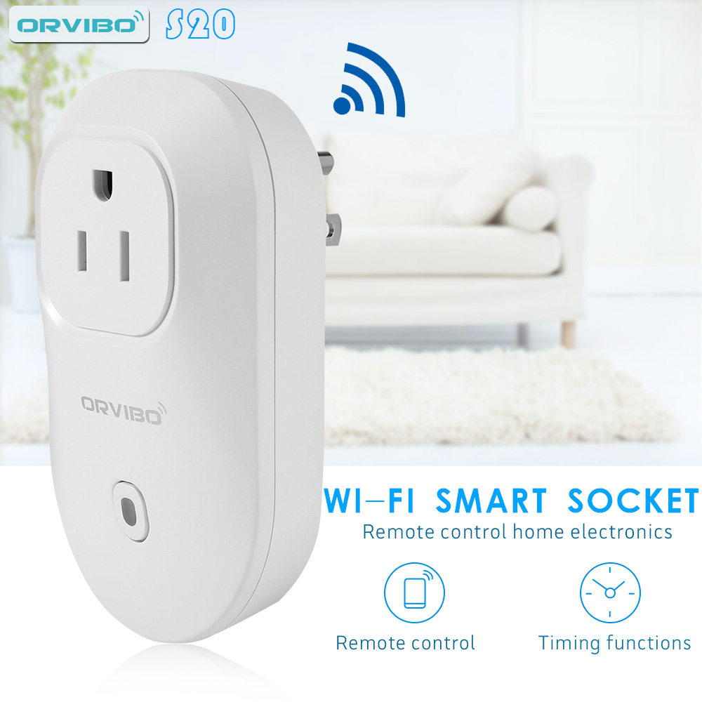 Orvibo S20 EU AU UK US Socket Intelligent Home Control for Smartphone Automation Smart Wi-Fi Wireless Timer Switch Wall Plug<br><br>Aliexpress