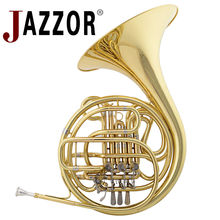 2015 New JAZZOR 4-key Double French Horn Entry Model Bb/F Wind Instruments French Horns JZFH-E310  Monel valves with padded box