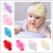 TWDVS Newborn Baby Hats Flower Headband Baby Flower Children Elastic Lace Headband Hair Accessories Girls Headdress  W103