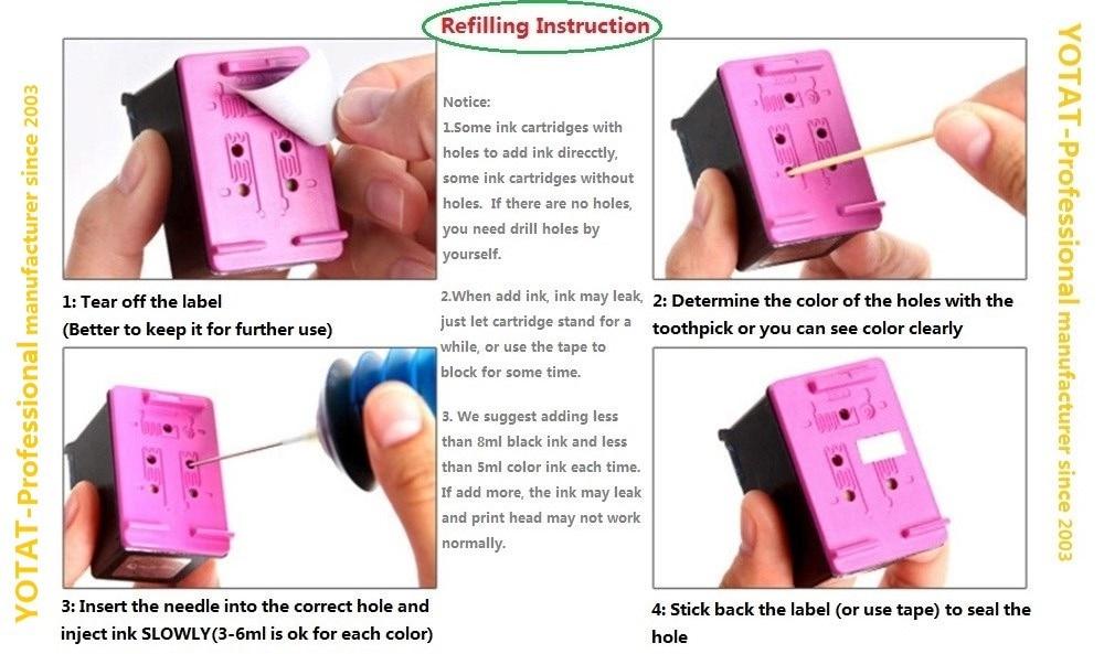 30ml refilling instruction