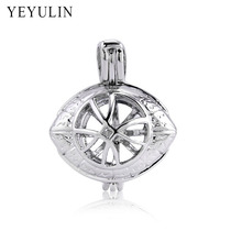 Trendy Alloy Spacecraft Ribbon Cross Crown Perfume Diffuse Loket Pendants Charms For Women Men Necklace DIY Jewelry Making 10pcs