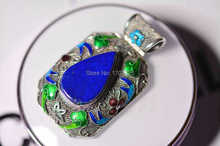 2015 New fashion Natural filigree made by hand with Lapis lazuli free shipping
