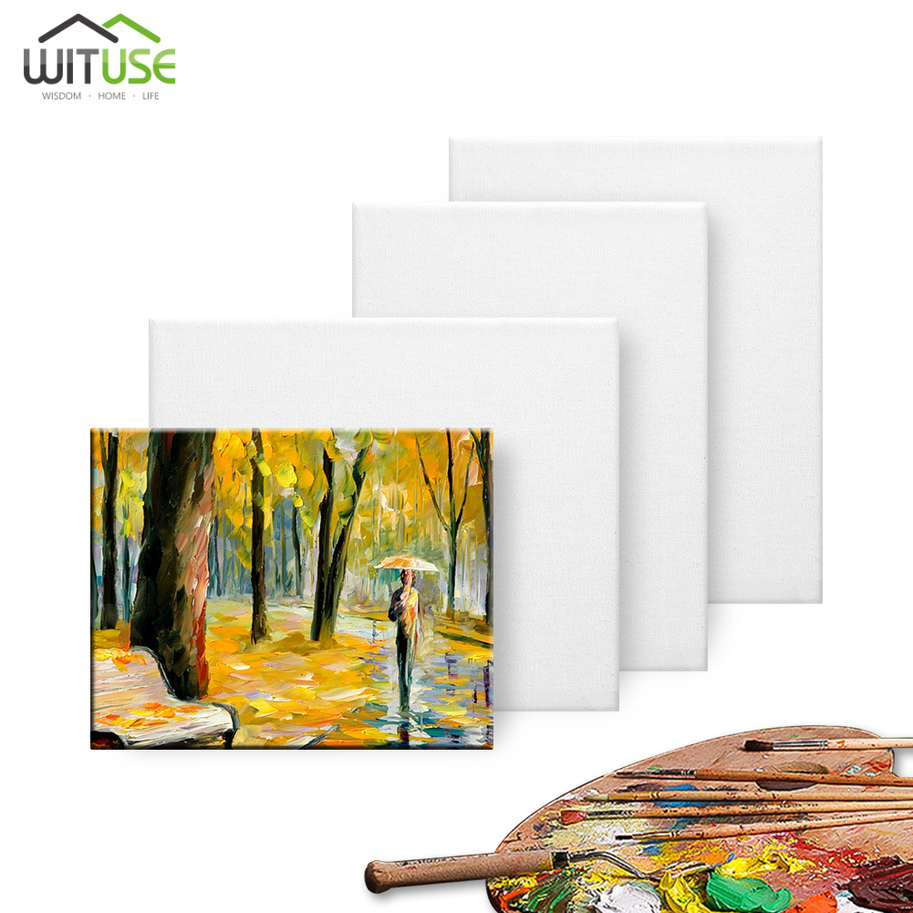 """5 Blank 6/"""" x 8/"""" 100/% Cotton Wood Frame Stretched Canvas for Acrylic//Oil Painting"""
