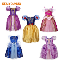 Sofia Cinderella Snow White Rapunzel Belle Girl Dress Princess kids party dresses cosplay Christmas Costume Dress