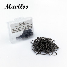 Mavllos ISEAMA Barbed Mustad Carp Fishing Hook 100pcs Stainless Steel Saltwater Sea Fishing Hooks Box Size 3-12 Lure Case Hooks(China)