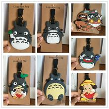 TOTORO Suitcase Luggage Tag Cartoon PVC ID Address Holder Baggage Label baggage tag Travel Accessories(China)