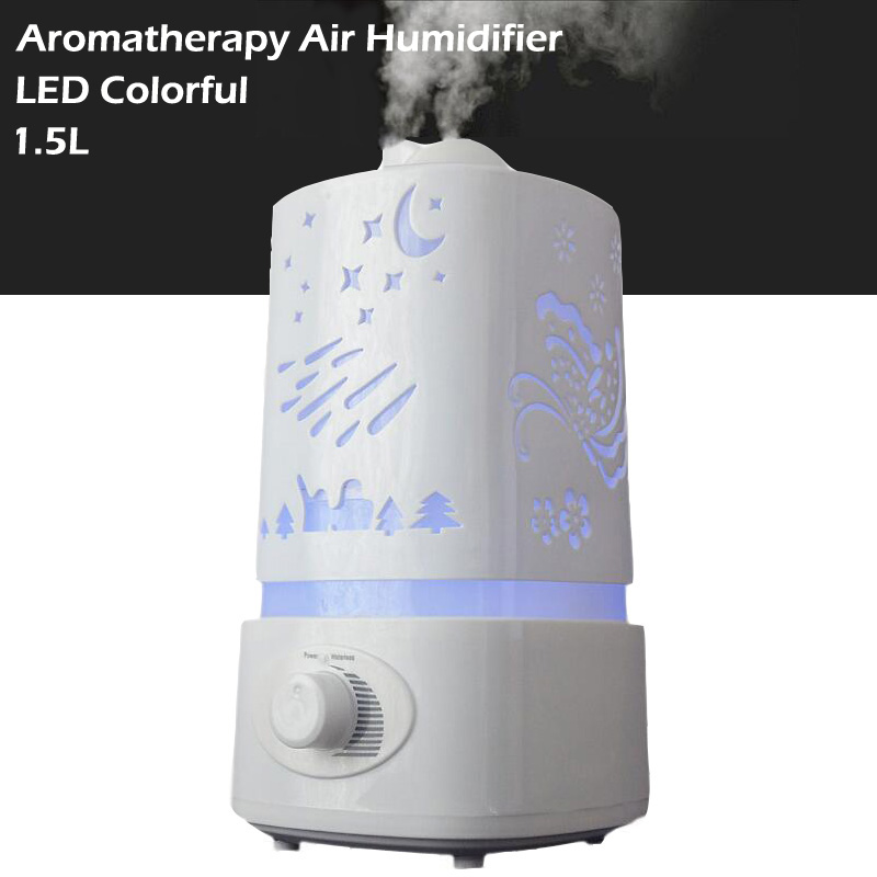 1.5L Aromatherapy diffuser air humidifier LED Night Light With Carve Design Ultrasonic humidifier air Aroma Diffuser mist maker<br>