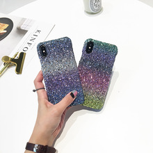 JiBan Fashion Man Woman Style Flash 360 Degree Full Body Bling Glitter Skin Back Phone Sticker For iPhone X 7 8 6s Plus Case(China)