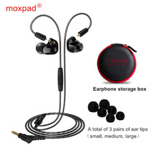 Moxpad X9 pro Dual Dynamic Driver Professional In Ear Earphone with Mic Super BASS for Mobile phone MP3 player Replacement cable