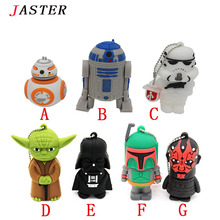 JASTER 64GB, Cartoon USB Pen drive Star wars darth vader 4GB/8GB/16GB/32GB usb flash drive flash memory stick pendrive U disk