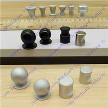 Dia. 16mm/17mm/18mm/20mm/22mm/25mm Single hole sand silver color space aluminum Kitchen Furniture bedroom drawer knob pulls