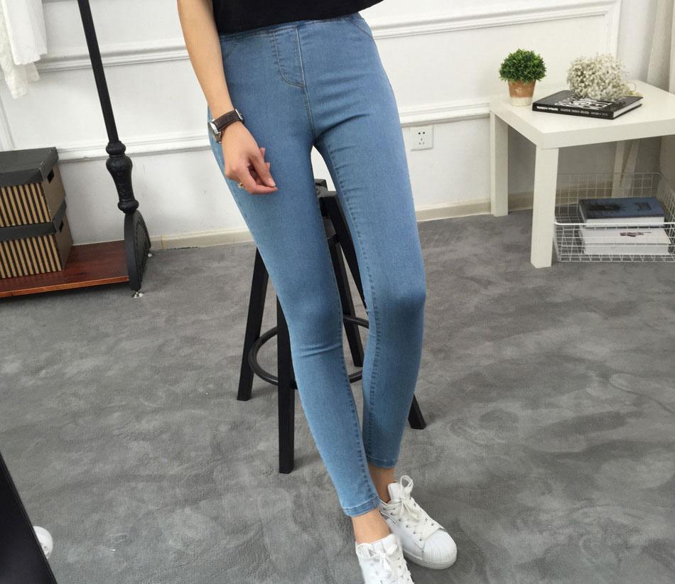 BIVIGAOS Basic Skinny Womens Jeans Ankle Pencil Pants Slim Elastic Denim Pants Jean Leggings Female Cotton Jeggings Jeans Women 7