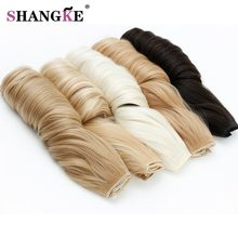 SHANGKE 28'' Long Wavy 5 Clip In Hair Extensions Heat Resistant Synthetic Fake Hairpieces Natural False Hair Pieces Women Hair(China)
