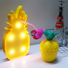 5 Leds Pineapple Sign 3D Figure Night Light LED Nightlight Desk Night Lamp For Kids Gift Decoration MY3_30