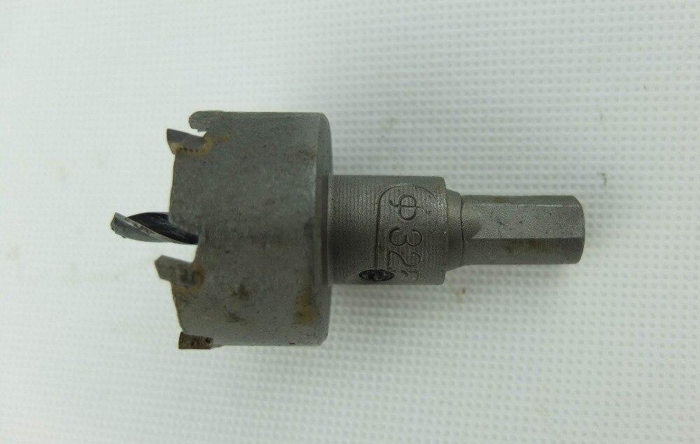 32.5MM Tungsten Carbide tipped Stainless Steel Sheet Cutter Core Drill Bit (10MM shank)<br><br>Aliexpress