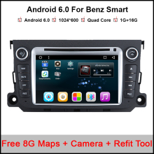 Octa Core Android 6.0.1 Car DVD Player GPS navigation for Smart Fortwo 2012 2013 2014 2015 2016 car autostereo Satnav unit