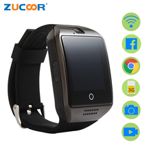 Smart Watch Smartwatch Android Clock Q18 Plus Support SIM Card 3G GPS WiFi Pedometer Facebook Google Sport Activity Wristwatch(China)