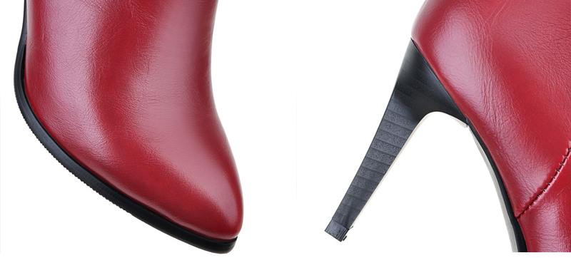 Women's High Heel Ankle Boots, Martin Boots, Zip Pointed Toe, High Heels 13