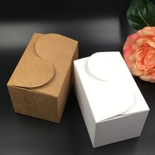 30pcs brown and white Paper Box Gift Box  For Baby Shower Valentine's day Wedding Favors Gift package candy Box Supplies