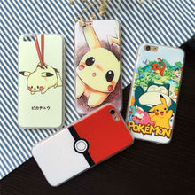 Anime Cartoon 3D Pocket Monsters Poke mon Case for iPhone 5s 6 6s Pika chu Silicone Back Cover Case For iPhone 5 5s SE 6 6 plus(China)