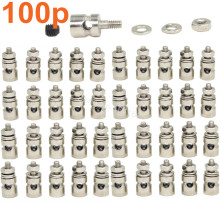 100pcs RC Airplane Replacement Parts Linkage Stoppers Pushrod Connectors D2.1 mm D1.8mm D1.3mm For Nitro Electric Model Plane(China)