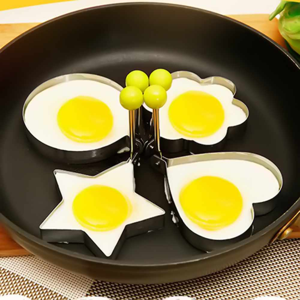 4 Types Star Heart Shaper Fried Egg Mold Ring Cooking Tools Kitchen Gadgets Stainless Steel Thick Cook Pancake In Rings From Home