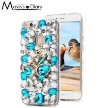 Buy 3D Swan Rhinestone Case Huawei P8 P9 P10 Lite Bling Crystal Hard Phone Back Rhinestone Cover Sony Xperia XZ XA XA1 Ultra for $6.38 in AliExpress store