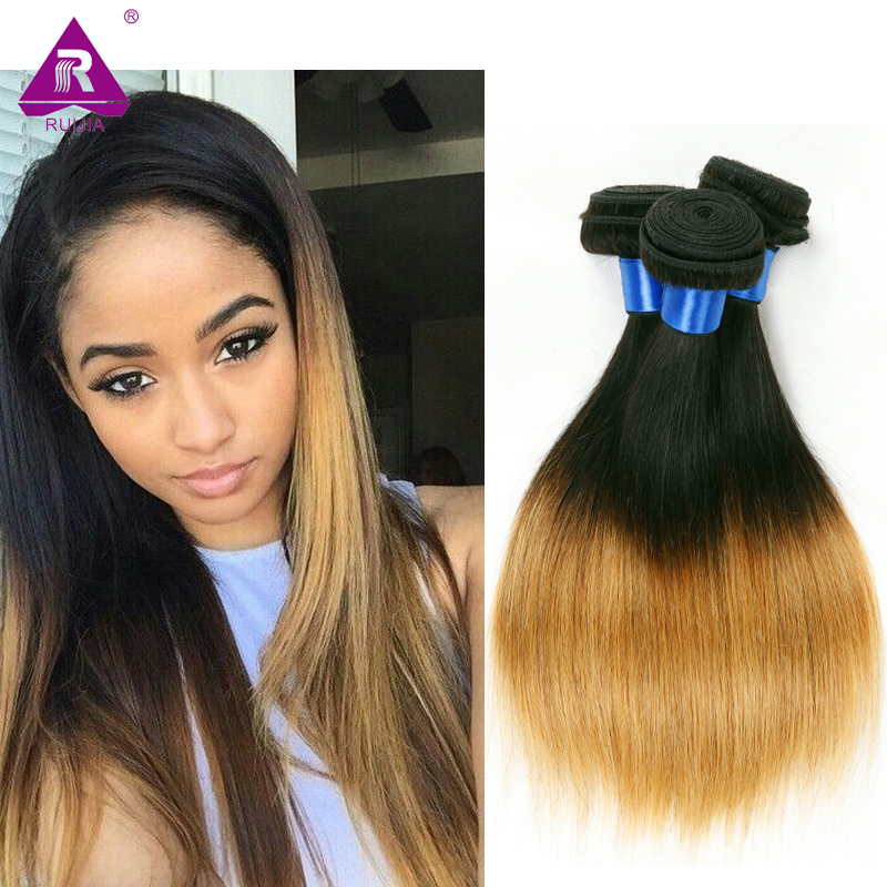 Two Toned Brazilian Hair Weave Bundles Straight Ombre Virgin Hair accept paypal free ship 1B/27 Brazilian Straight Hair Sexay<br><br>Aliexpress