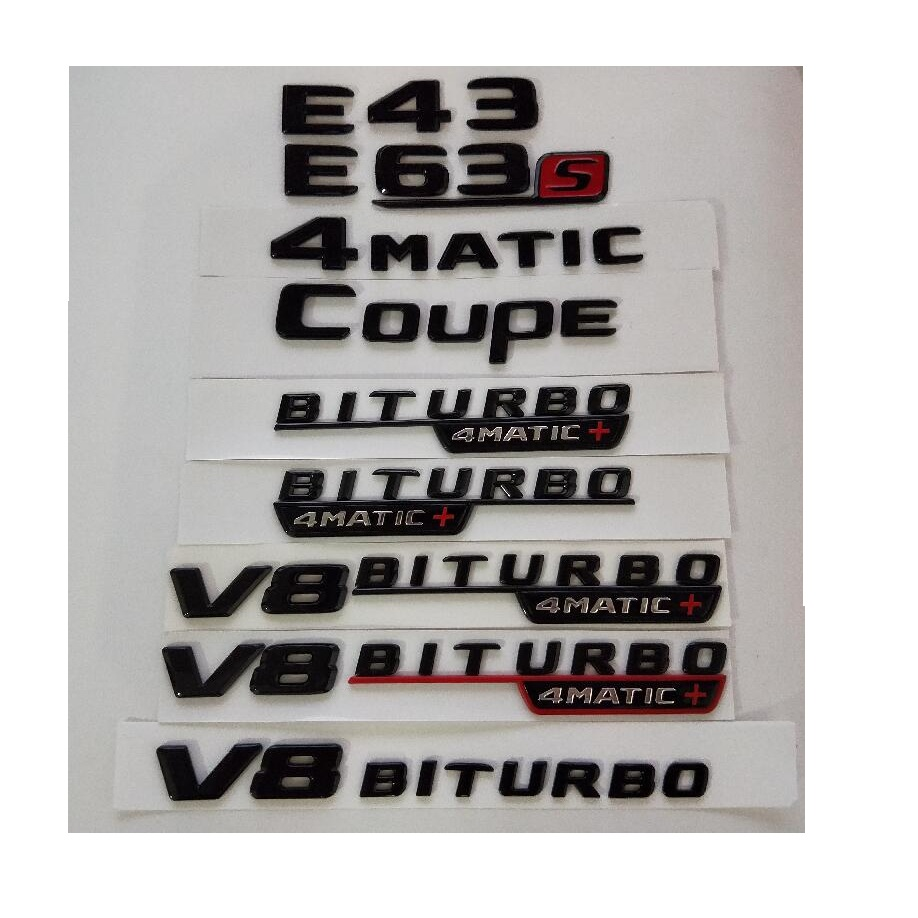 BLACK REAR BOOT EMBLEM BADGE FOR MERCEDES BENZ W211 W212 A207 C207 W207 E63 AMG