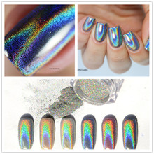 0.5g Shiny Laser Powder Nail Art Holographic Powder Unicorn Nail Glitter Hologram Rainbow Dust Chorme Pigments