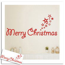 New Chrismas Product Hot Sale Home Decoration Merry Christmas Wall Stickers Art Removable Home Vinyl Window Stickers Poster